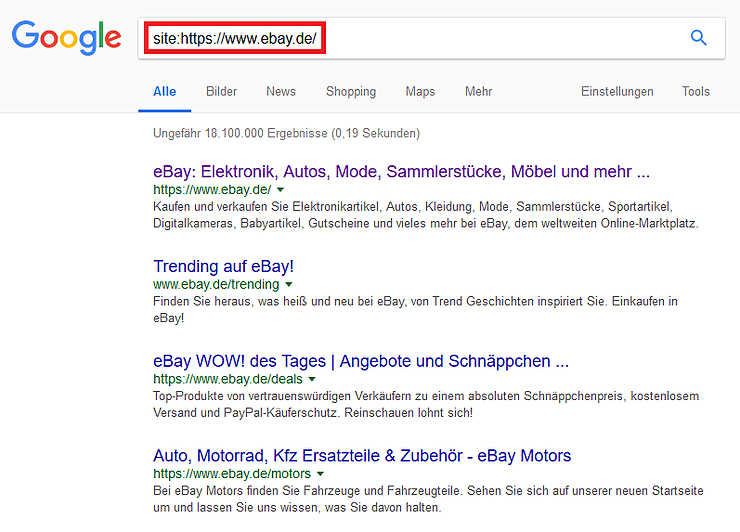 site indexierung google