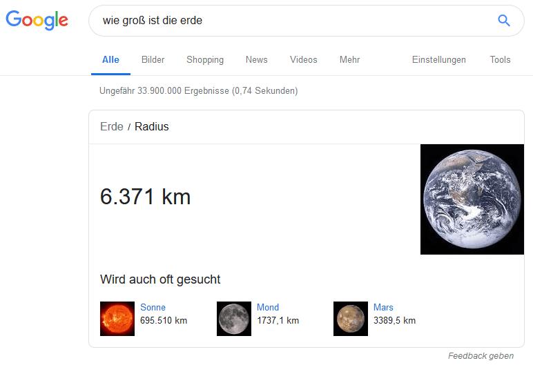 google knowledge graph beispiel