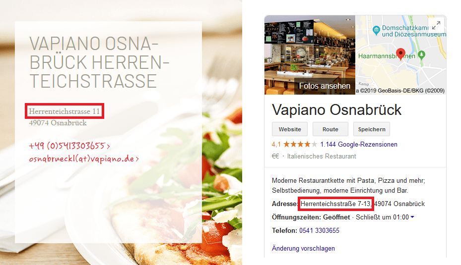 vapiano citation audit