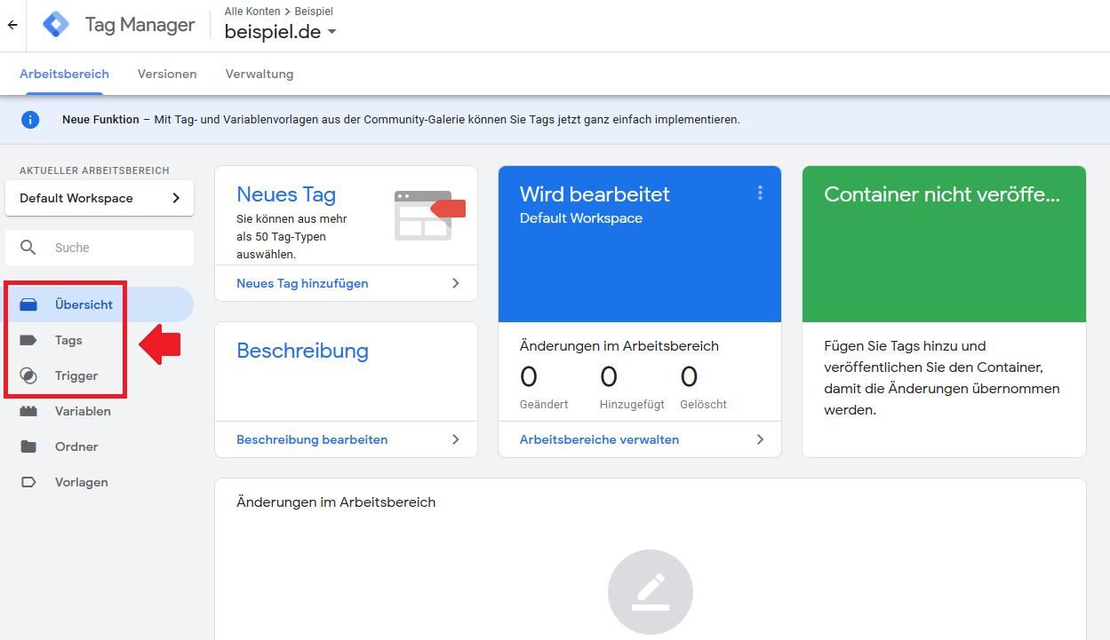 Google Tag Manager - Tags,Trigger,Variablen