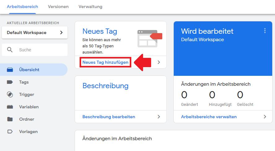 google tag manager tag erstellen