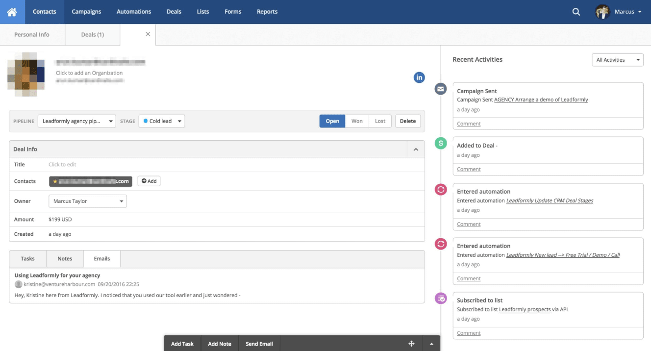 activecampaign crm system