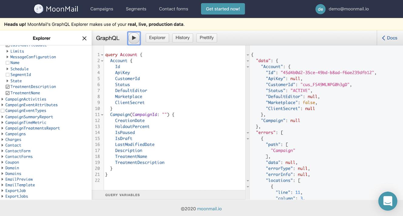 Moonmail API