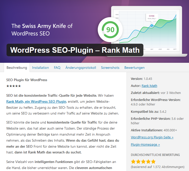 Rank Math All-in-one Seo Plugin WordPress